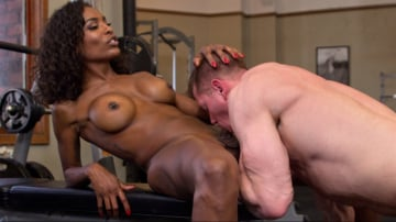 Natassia Dreams - Natassia Dreams pumps her cock deep into muscle boys hungry asshole!