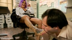 TS Foxxy - Hole for Hire: Desperate schlub sucks cock for job prospects (Thumb 02)