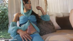 Violet Monroe - The Evil Genie With a Weenie seduces Violet Monroe with her cock (Thumb 03)