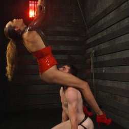 Artemis Faux in 'Kink TS' Latex Clad Domme Torments Hard Cocked Slaveboy (Thumbnail 3)
