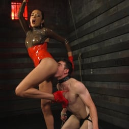 Artemis Faux in 'Kink TS' Latex Clad Domme Torments Hard Cocked Slaveboy (Thumbnail 4)