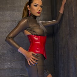 Artemis Faux in 'Kink TS' Latex Clad Domme Torments Hard Cocked Slaveboy (Thumbnail 18)