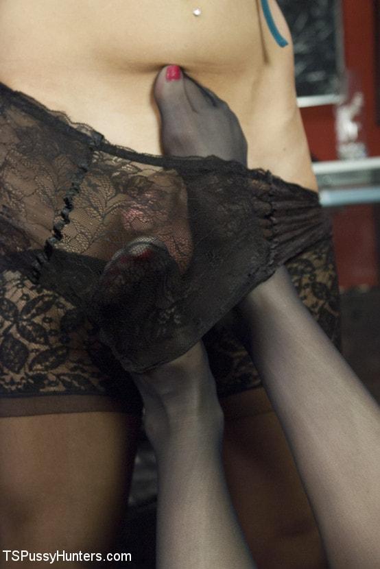 Kink TS 'Shoe Ladies: Foot Fucking, Cock Sucking, Fingering, Squirting and Cumming' starring Brenda Von Tease (Photo 6)