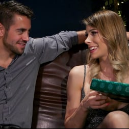 Casey Kisses in 'Kink TS' Best Christmas Ever: Gorgeous Casey Kisses Submits To Dante Colle (Thumbnail 1)