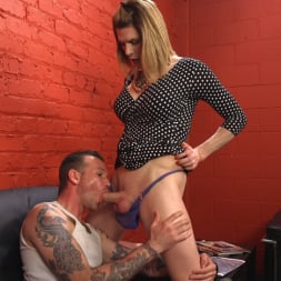 Delia DeLions in 'Kink TS' Delia releases a kept man from chastity then locks him down with her cock! (Thumbnail 3)