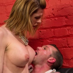 Delia DeLions in 'Kink TS' Delia releases a kept man from chastity then locks him down with her cock! (Thumbnail 5)