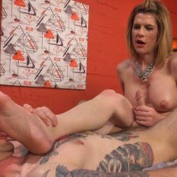 Delia DeLions in 'Kink TS' Delia releases a kept man from chastity then locks him down with her cock! (Thumbnail 14)