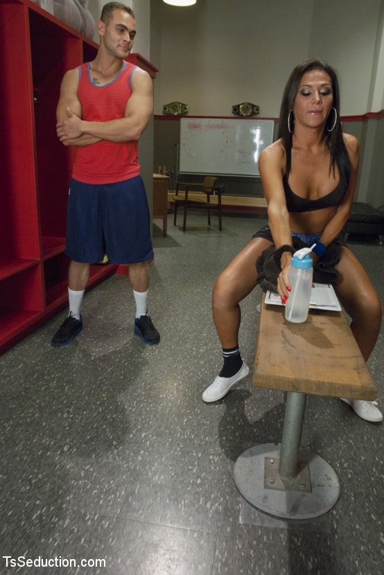 Kink TS 'trains the gym rat with Her Cock!' starring Jaquelin Braxton (Photo 1)