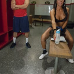 Jaquelin Braxton in 'Kink TS' trains the gym rat with Her Cock! (Thumbnail 1)