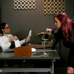 Jessica Fox in 'Kink TS' The Office Slave: Jessica Fox Fucks Bella Rossi in Every Hole (Thumbnail 1)