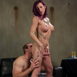 Jonah Marx in 'Kink TS' TS Film directors works her actors with her GIANT HARD COCK! (Thumbnail 5)