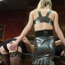 Kelly Klaymour in 'Kink TS' Evil Dungeon mistress gets her Dick fucked off by the perfect slaves (Thumbnail 2)
