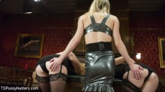 Kelly Klaymour - Evil Dungeon mistress gets her Dick fucked off by the perfect slaves (Thumb 02)