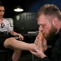 Melanie Brooks in 'Kink TS' Pulling Rank: Dirty Hot Cop Melanie Brooks Fucks Evidence Room Boy (Thumbnail 2)