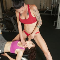 Morgan Bailey in 'Kink TS' Hard Body Trainer seduces fitness Client and Cums in her ass (Thumbnail 4)