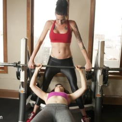 Morgan Bailey in 'Kink TS' Hard Body Trainer seduces fitness Client and Cums in her ass (Thumbnail 5)