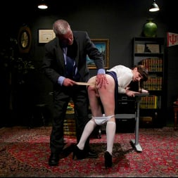Natalie Mars in 'Kink TS' Schoolgirl Snitch: Natalie Mars Punished and Fucked by Headmaster (Thumbnail 4)