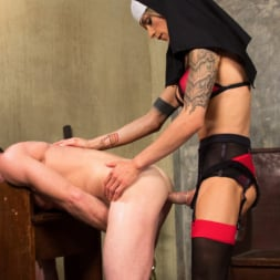 Nina Lawless in 'Kink TS' Bad Habits: Pray to her cock! (Thumbnail 2)