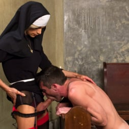 Nina Lawless in 'Kink TS' Bad Habits: Pray to her cock! (Thumbnail 3)