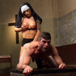 Nina Lawless in 'Kink TS' Bad Habits: Pray to her cock! (Thumbnail 10)