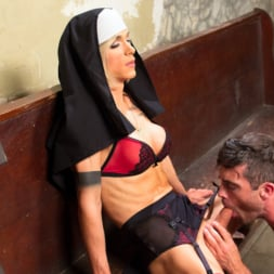 Nina Lawless in 'Kink TS' Bad Habits: Pray to her cock! (Thumbnail 14)