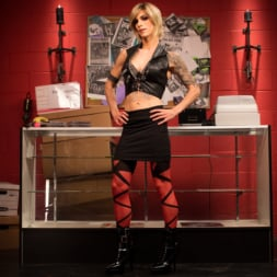 Nina Lawless in 'Kink TS' Rammed at the Record Store (Thumbnail 1)