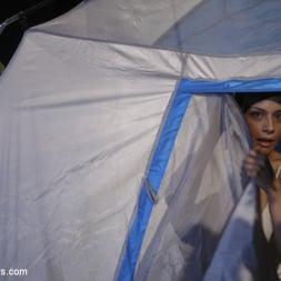 Nina Lawless in 'Kink TS' Two Hot Big Tit Babes get Spooked at Camp Beaver Falls (Thumbnail 1)