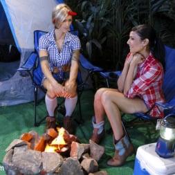 Nina Lawless in 'Kink TS' Two Hot Big Tit Babes get Spooked at Camp Beaver Falls (Thumbnail 2)