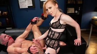 Shiri Allwood in 'Getting Ahead: Shiri Allwood Owns Her Boss, Dale Savage With Her Cock'