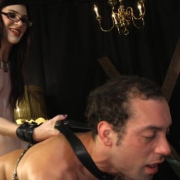 Stefani Special in 'Kink TS' doms and fucks DJ, her willing handcuffed slave (Thumbnail 14)