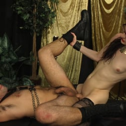 Stefani Special in 'Kink TS' doms and fucks DJ, her willing handcuffed slave (Thumbnail 18)