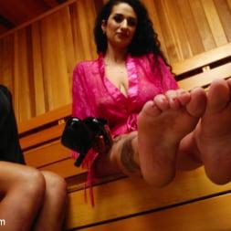 Tori Mayes in 'Kink TS' Sauna Perverts: Tori Mayes and Arabelle Raphael (Thumbnail 19)