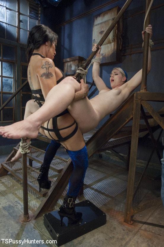 Kink TS 'Foxxy Takes Another - Turning Ella Nova into her cock Slut' starring TS Foxxy (Photo 5)