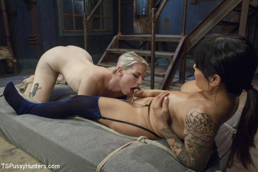 Kink TS 'Foxxy Takes Another - Turning Ella Nova into her cock Slut' starring TS Foxxy (Photo 10)