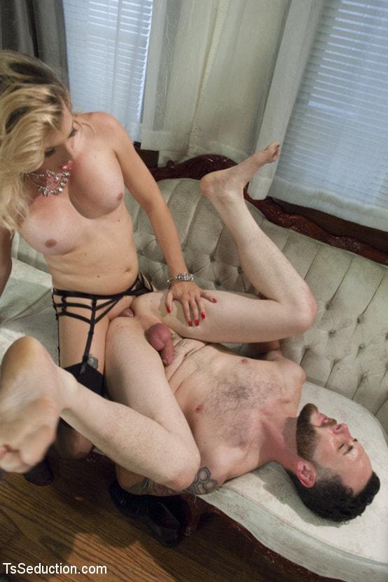 Kink TS 'Mistress Tyra Scott Humiliates and Fucks a VERY Tight Ass Man slave' starring Tyra Scott (Photo 7)