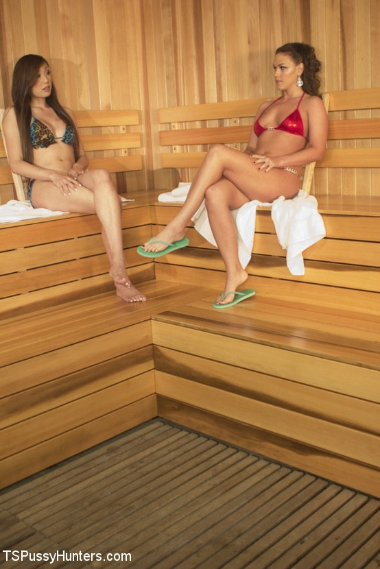 Kink TS 'Steamy Sauna, Hot Shower and Locker Room Sex with Venus Lux and Roxy Raye' starring Venus Lux (Photo 2)