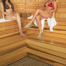 Venus Lux in 'Kink TS' Steamy Sauna, Hot Shower and Locker Room Sex with Venus Lux and Roxy Raye (Thumbnail 2)